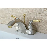 Shop Twotone Chrome And Brass Bathroom Faucet Free Shipping Today - Gold and silver bathroom faucets