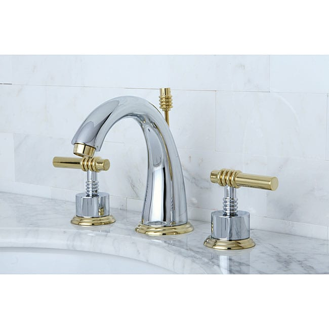 Milano Widespread Chrome/ Polished Brass Bathroom Faucet - Free ...