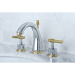 Shop Milano Widespread Chrome Polished Brass Bathroom Faucet Free - Gold and chrome bathroom faucets