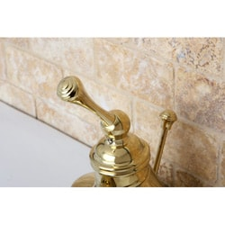 Vintage Polished Brass 4-inch Centerset Metal Bathroom Faucet - Thumbnail 1