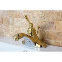 Vintage Polished Brass 4-inch Centerset Metal Bathroom Faucet