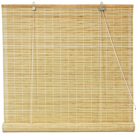 Handmade Bamboo Natural Roll-up Window Blinds (36 in. x 72 in.) (China)