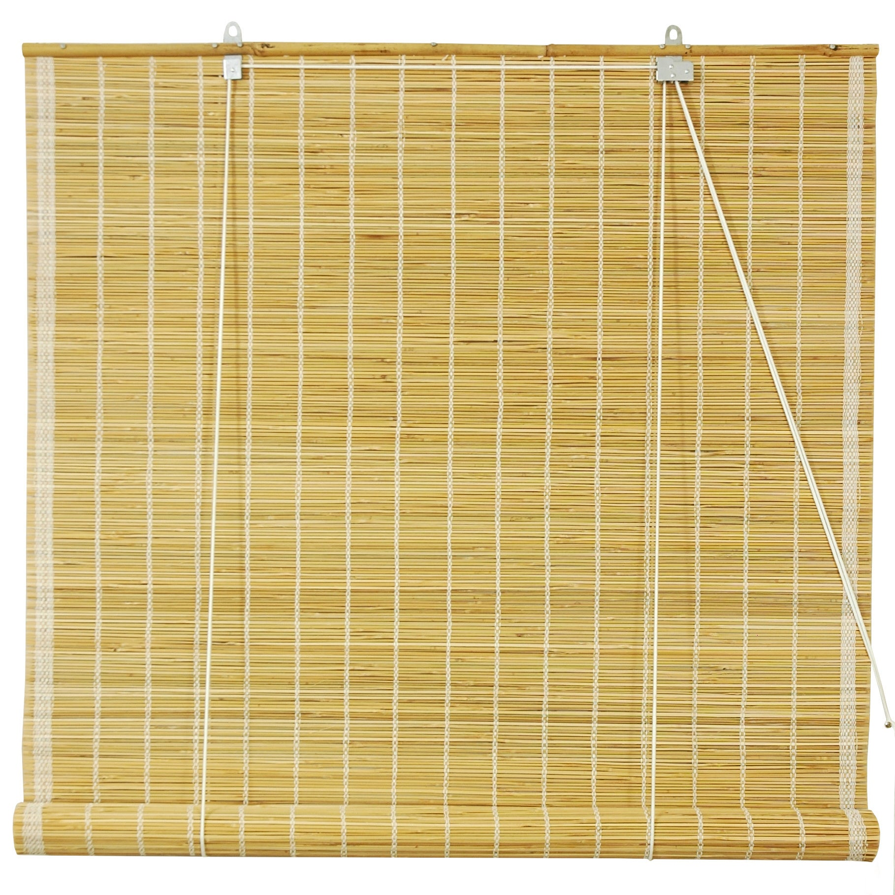 Oriental FURNITURE Handmade Matchstick Natural Roll-up Wi...
