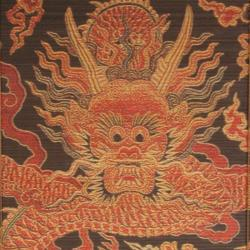 Handmade Bamboo Dragon Design Window Blinds (60 in. x 72 in.) (China) - Thumbnail 1