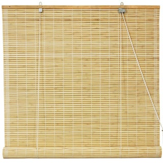 Handmade Bamboo Natural Roll-up Window Blinds (60 in. x 72 in.) (China) - 60 x 72