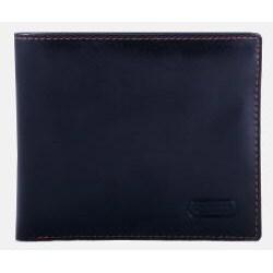 Leatherbay Men's Black Leather Bi-fold Wallet - Thumbnail 1