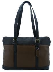 Leatherbay Two-tone Leather Laptop Messenger Bag - Thumbnail 2
