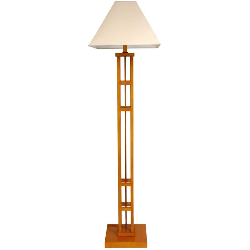 Wood 62-inch Mosko Floor Lamp (China)