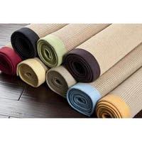 Hand-woven Autumn Multi Natural Fiber Jute Area Rug (8' x 10') - 8' x 10'