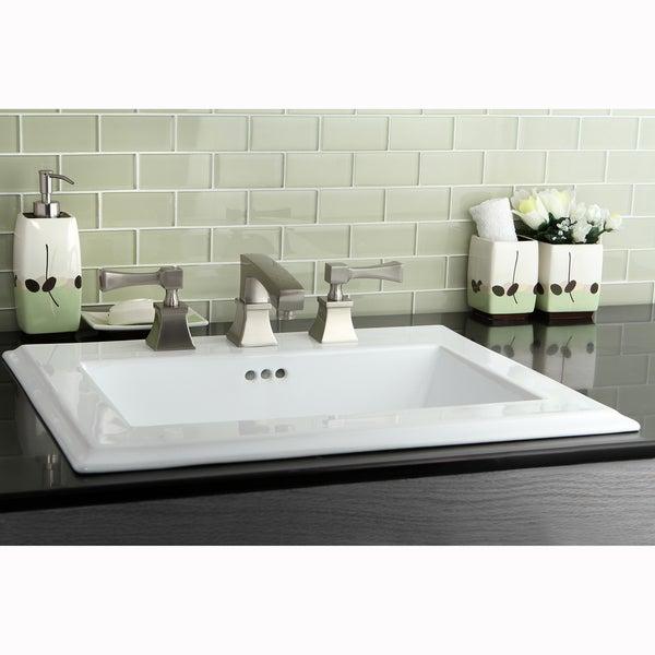 Towne Square Satin Nickel Widespread Bathroom Faucet