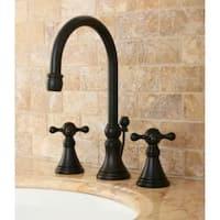 Governor Widespread Oil Rubbed Bronze Bathroom Faucet