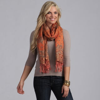 Link to Elegant Apricot Reversible Paisley Shawl Wrap Similar Items in Scarves & Wraps
