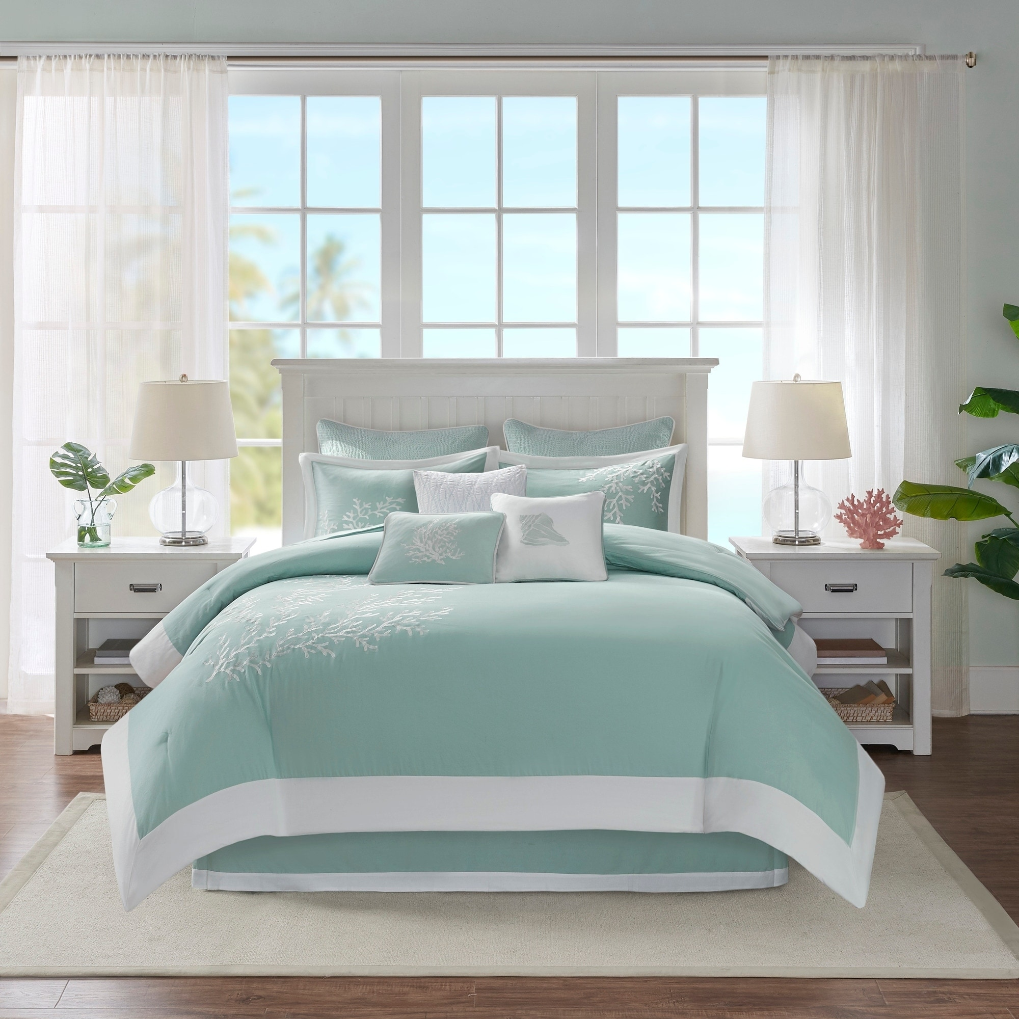 Harbor House Coastline Aqua Comforter Set On Sale Overstock 5689108
