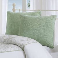 Harbor House Brisbane Green Embroidered Cotton Euro Sham