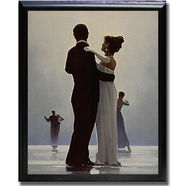 Traditional Jack Vettriano 'Dance Me to the End of Love' Framed Canvas Art
