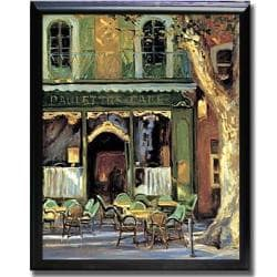 Keith Wicks 'Paulette's Cafe' Framed Canvas Art