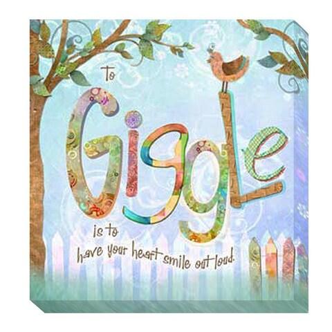 Connie Haley 'Giggle' Giclee Art - Blue
