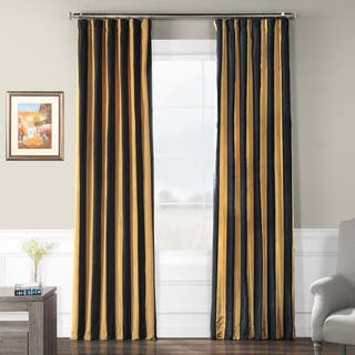 Inches Stripe Curtains Drapes Shop The Best Deals For Nov - Black and gold stripe drapery fabric