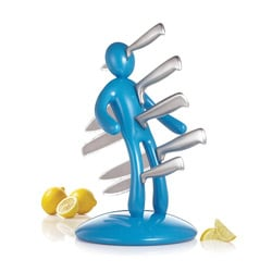 The Ex 2nd Edition Blue 5-piece Kitchen Knife Set