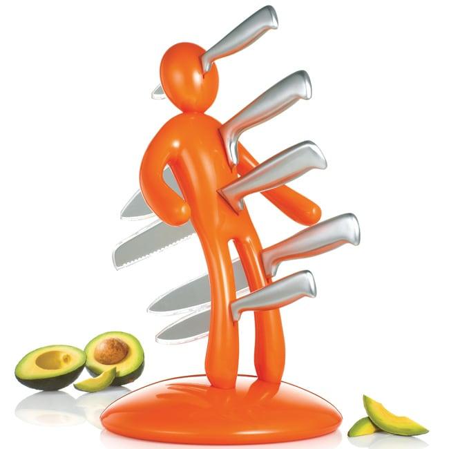 The Ex 2nd Edition Orange 5 Piece Kitchen Knife Set Free