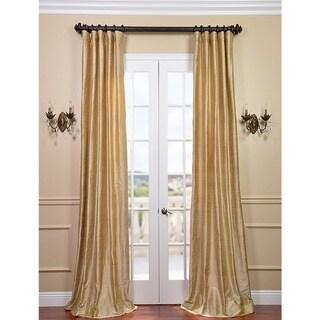 Exclusive Fabrics Signature Biscotti Textured Silk Curtain Panel