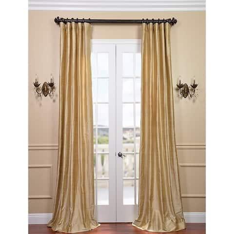 Exclusive Fabrics Signature Biscotti Textured Silk Single Curtain Panel