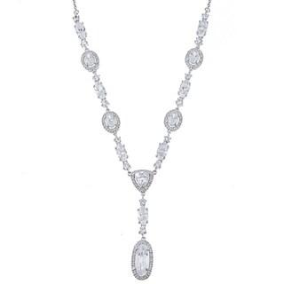 La Preciosa Sterling Silver Multi-Shaped CZ Necklace