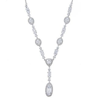 La Preciosa Sterling Silver Multi-Shaped CZ Necklace