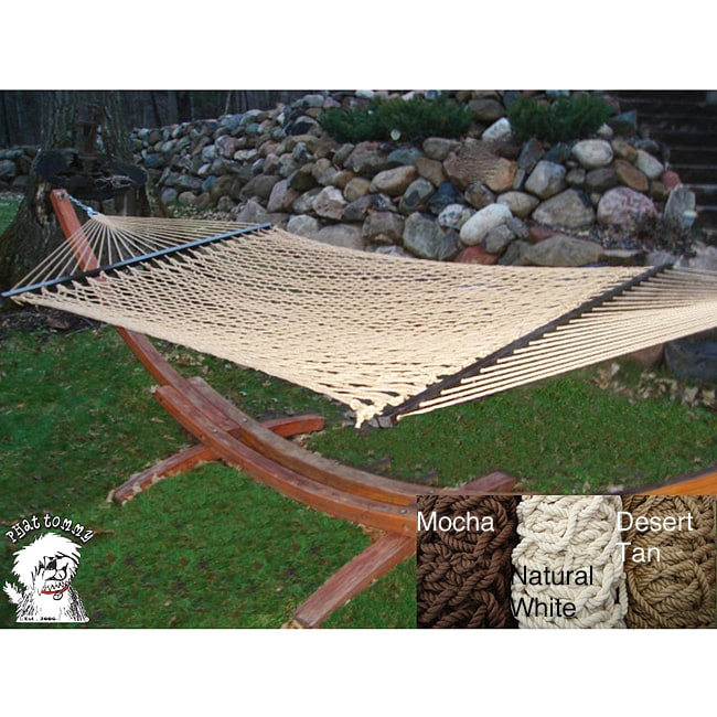 Phat Tommy Handwoven Soft Wide Hammock - Thumbnail 0