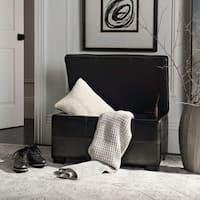 Safavieh Madison Black Bicast Leather Indoor Storage Bench