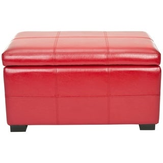 Safavieh Madison Red Bicast Leather Indoor Storage Bench