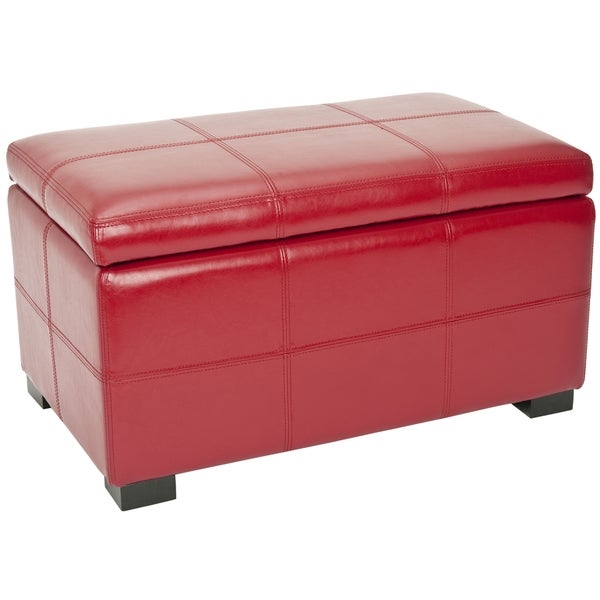 Safavieh Madison Red Bicast Leather Indoor Storage Bench  sc 1 st  Furniture.com & Red Storage Bench