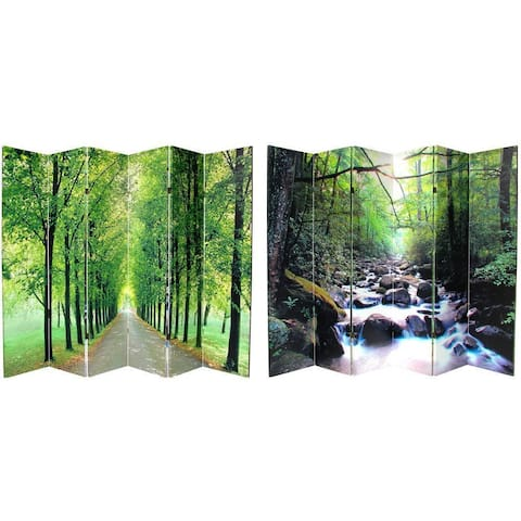 Handmade 6' Canvas Path of Life Room Divider