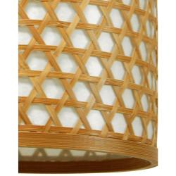 Handmade Bamboo 12-inch Desu Japanese-style Lattice Hanging Lantern (China) - Thumbnail 1