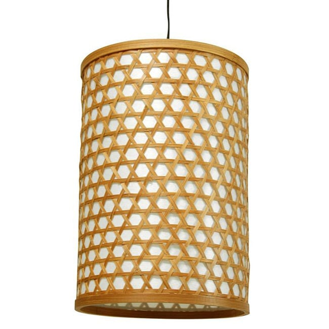 Handmade Bamboo 12-inch Desu Japanese-style Lattice Hanging Lantern (China)