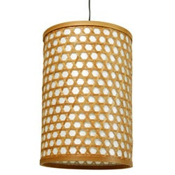 Handmade Bamboo 12-inch Desu Japanese-style Lattice Hanging Lantern (China) - Thumbnail 0