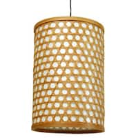 Handmade Bamboo 12-inch Desu Japanese-style Lattice Hanging Lantern (China)