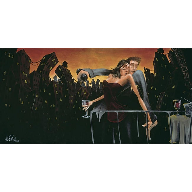 David Garibaldi 'City Lights Love' Gallery-wrapped Giclee Canvas Art - Thumbnail 0