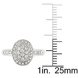 10k White Gold 1/4ct TDW Diamond Fashion Halo Ring