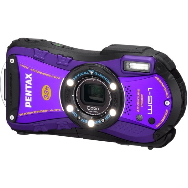 Pentax Optio WG-1 14 Megapixel Compact Camera - Purple