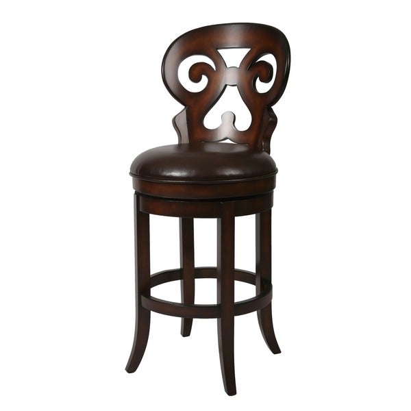 Shop Hermosa 26 Inch Wood Swivel Counter Stool Free