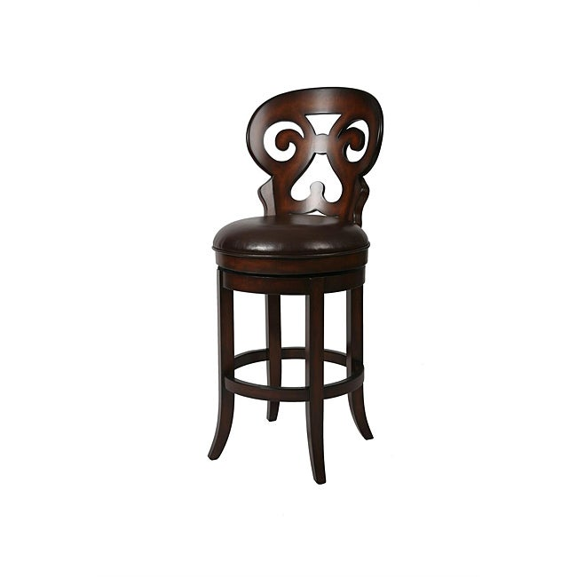 Hermosa 26-inch Wood Swivel Counter Stool