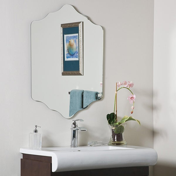 Vandam frame less bathroom mirror free shipping today for Decorative mirrors for less