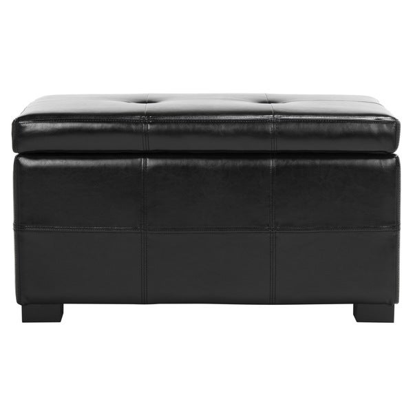 Safavieh Maiden Tufted Black Bicast Leather Small Indoor