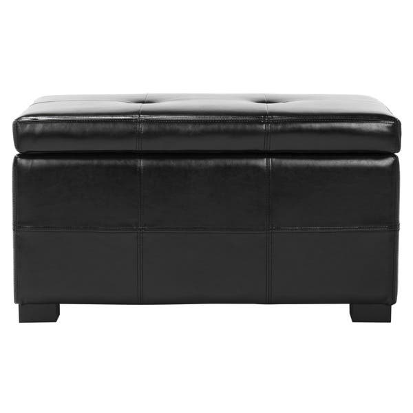 Prime Shop Safavieh Maiden Tufted Black Bicast Leather Small Caraccident5 Cool Chair Designs And Ideas Caraccident5Info