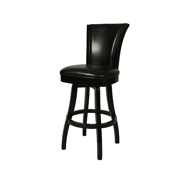 glenwood feher black 30 inch wood swivel bar stool free shipping