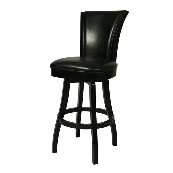 Shop Glenwood Feher Black 30 Inch Wood Swivel Bar Stool