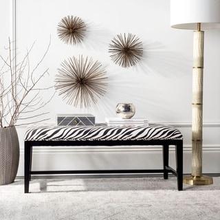 Safavieh Zebra-skin Print Bench