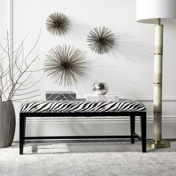 Shop Safavieh Zebra-skin Print Bench
