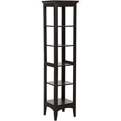Classique Dark Espresso Linen Tower by Elegant Home Fashions - Thumbnail 1